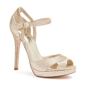 GUESS Queen Platform Peep Toe Heels